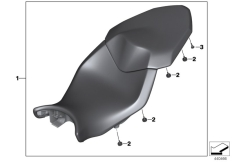 Goto diagram: BMW Classic Motorbike Model S 1000 XR (0D23)( BRA ), Category 77.34 Seat bench :: Diagram: 77_0758
