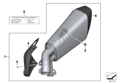 Goto diagram: BMW Classic Motorbike Model S 1000 XR (0D23)( BRA ), Category 77.11 Sport silencer :: Diagram: 77_0764