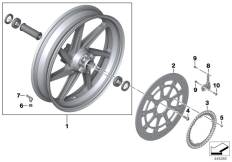 Goto diagram: BMW Classic Motorbike Model S 1000 XR (0D23)( BRA ), Category 77.21 Forged wheel, front :: Diagram: 77_0769