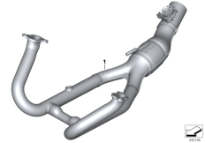 Goto diagram: BMW Classic Motorrad Modell R 1200 RS (0A05, 0A15)( USA ), Category 77.11 Exhaust manifold, chrome-plated :: Diagram: 77_0774
