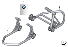 Goto diagram: BMW Classic Motorrad Modell R 1200 RS (0A05, 0A15)( USA ), Category 77.02 Auxiliary stand :: Diagram: 77_0776