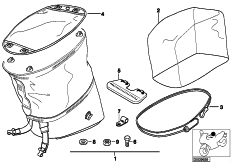 Goto diagram: BMW Classic Motorrad Modell R 1100 R 94 (0402,0407)( USA ), Category 77.45 Tank bag 99 :: Diagram: 77_0788
