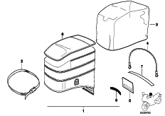 Goto diagram: BMW Classic Motorbike Model R 1100 RS 93 (0411,0416)( ECE ), Category 77.45 Tank bag 99 :: Diagram: 77_0795