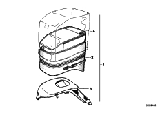 Goto diagram: BMW Classic Motorbike Model K 1100 LT (0526, 0536)( ECE ), Category 77.45 Tank bag :: Diagram: 77_0798