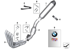 Goto diagram: BMW Classic Motorbike Model S 1000 RR 10 (0507,0517)( ECE ), Category 77.11 Separate parts, HP titanium exh. system :: Diagram: 77_0806