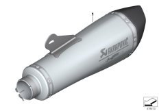 Goto diagram: BMW Classic Motorrad Modell R nineT Pure (0J11, 0J13)( USA ), Category 77.11 Sport silencer :: Diagram: 77_0859