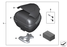 Goto diagram: BMW Classic Motorrad Modell G 310 GS (0G02, 0G12)( USA ), Category 77.43 Topcase Light 29l with adapter plate :: Diagram: 77_0865