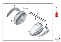 Goto diagram: BMW Classic Motorrad Modell R nineT Pure (0J11, 0J13)( USA ), Category 77.12 Cylinder head cover Machined :: Diagram: 77_0872