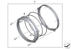 Goto diagram: BMW Classic Motorrad Modell R nineT Pure (0J11, 0J13)( USA ), Category 77.25 Headlight cover Machined :: Diagram: 77_0875