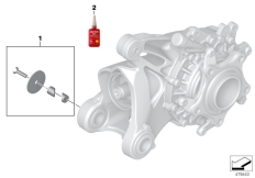 Goto diagram: BMW Classic Motorbike Model R nineT Racer (0J21, 0J23)( USA ), Category 77.25 Angulr transmission mount cover Machined :: Diagram: 77_0878