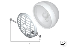 Goto diagram: BMW Classic Motorrad Modell R nineT Pure (0J11, 0J13)( USA ), Category 77.51 Headlight guard :: Diagram: 77_0881