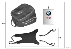 Goto diagram: BMW Classic Motorrad Modell G 310 GS (0G22)( BRA ), Category 77.45 Tank bag :: Diagram: 77_0889