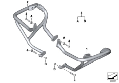 Goto diagram: BMW Classic Motorrad Modell R 1200 RS (0A05, 0A15)( USA ), Category 77.14 ENGINE PROTECTION BAR :: Diagram: 77_0907