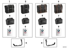 Goto diagram: BMW Classic Motorbike Model R nineT (0A06, 0A16)( USA ), Category 77.49 Side bags :: Diagram: 77_0909