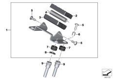 Goto diagram: BMW Classic Motorrad Modell G 310 GS (0G02, 0G12)( USA ), Category 77.52 Mounting parts, BMW Motorrad Navigator :: Diagram: 77_0918