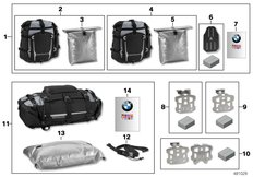 "Goto diagram: BMW Classic Motorbike Model R 1200 GS Adve. 10 (0470,0480)( ECE ), Category 77.49 Luggage system ""Atacama"" :: Diagram: 77_0922"
