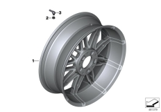Goto diagram: BMW Classic Motorrad Modell K 1600 GT 17 (0F01, 0F11)( ECE ), Category 77.21 Forged wheel, rear :: Diagram: 77_0925