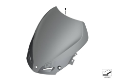 Goto diagram: BMW Classic Motorrad Modell F 800 GT 17 (0B53, 0B63)( USA ), Category 77.33 Windscreen tinted matt :: Diagram: 77_0947