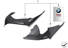 Goto diagram: BMW Classic Motorbike Model S 1000 RR 10 (0507,0517)( ECE ), Category 77.31 HP carbon tank trim :: Diagram: 77_0957