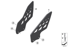 Goto diagram: BMW Classic Motorbike Model S 1000 RR 12 (0524,0534)( USA ), Category 77.25 HP Carbon heel guard :: Diagram: 77_0961