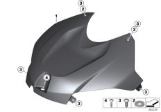 Goto diagram: BMW Classic Motorbike Model S 1000 R 17 (0D52, 0D62)( ECE ), Category 77.31 HP Carbon cover, intake silencer :: Diagram: 77_0965
