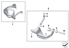 Goto diagram: BMW Classic Motorrad Modell R nineT Pure (0J11, 0J13)( USA ), Category 77.32 HAND PROTECTOR :: Diagram: 77_0978
