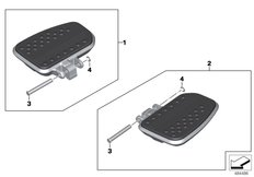 Goto diagram: BMW Classic Motorbike Model K 1600 GTL 17 (0F02, 0F12)( USA ), Category 77.25 Passenger footboard :: Diagram: 77_0997