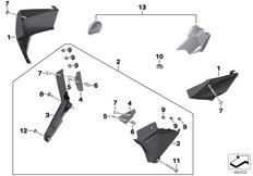 Goto diagram: BMW Classic Motorrad Modell K 1600 Bagger (0F51, 0F53)( USA ), Category 77.31 Set cover for frame :: Diagram: 77_0999