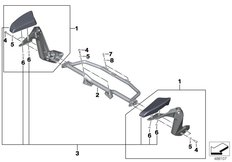 Goto diagram: BMW Classic Motorbike Model K 1600 Bagger (0F51, 0F53)( USA ), Category 77.25 Armrest, pillion rider :: Diagram: 77_1062