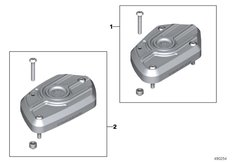 Goto diagram: BMW Classic Motorrad Modell R nineT Pure (0J11, 0J13)( USA ), Category 77.12 Cover for brake fluid tank front :: Diagram: 77_1085